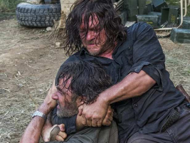 Rick and Daryl fight